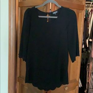 Black blouse with back detail